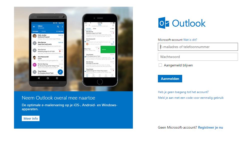 Outlook homepage
